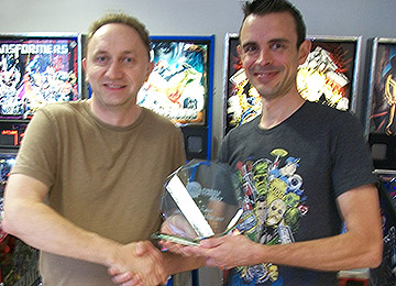 Winner of the UK Pinball Classic for 2016, Rich Mallett