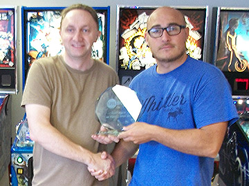 UK Pinball Open 2016 winner, David Mainwaring